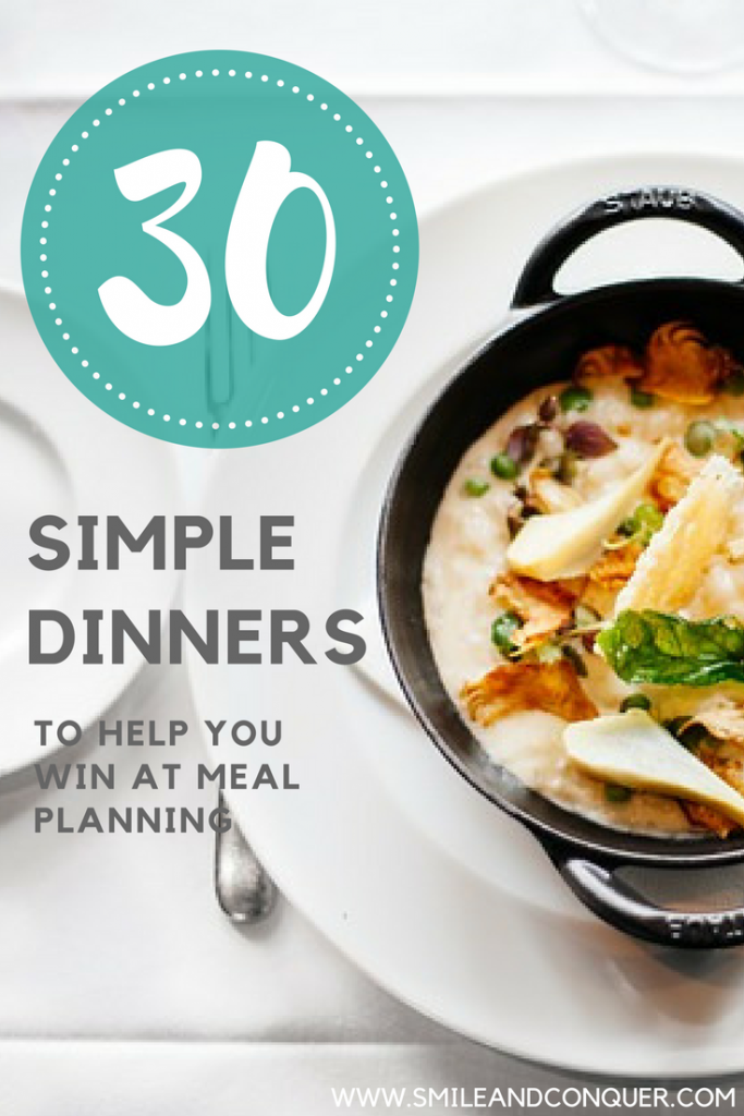30 Day Meal Plan to Simplify and Save Money
