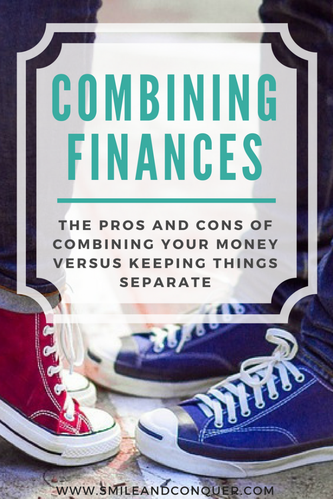 Combine finances as a couple or keep things separate?